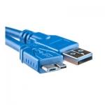 Кабель PowerPlant USB 3.0 AM - Micro, 0.1м