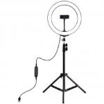 """Кольцевая LED лампа Puluz PKT3035 10"""" + штатив"""