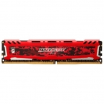 Оперативная память 4GB DDR4 2400MHz Crucial Ballistix Sport LT Red PC4-19200 unbuffered NON-ECC 1.2V BLS4G4D240FSE