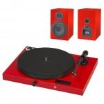 Виниловый проигрыватель Pro-Ject Juke Box E + Speaker Box 5  Красный EAN:9120097821225