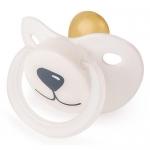Соска-пустышка Happy Baby Baby латексная 0+ Белый Медвежонок